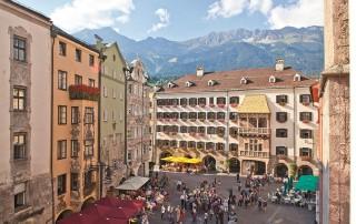 Die Stadtmitte von Innsbruck