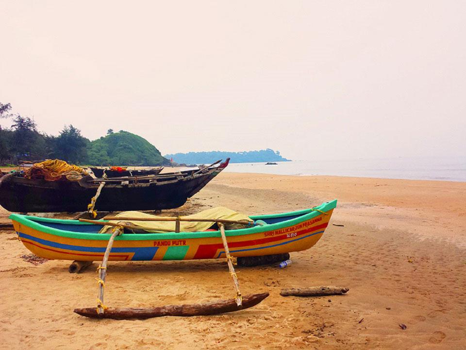 Ein Strand in Indien