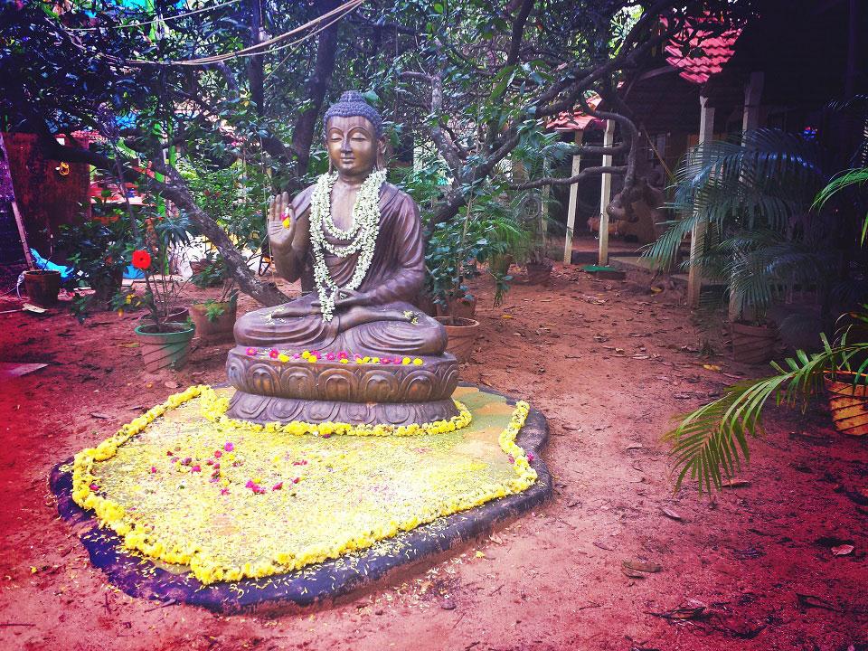 Eine Buddah-Statue