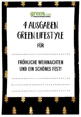 Geschenk-Abo green Lifestyle Gutschein Weihnachten
