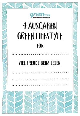 green Lifestyle Geschenkgutschein für Geschenkeabo neutral