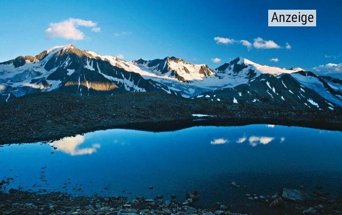 Hauptmann Berg im Ötztal mit Bergsee im Vordergrund