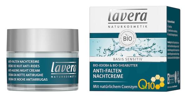basis sensitiv Q10 Anti-Falten Nachtcreme von Lavera