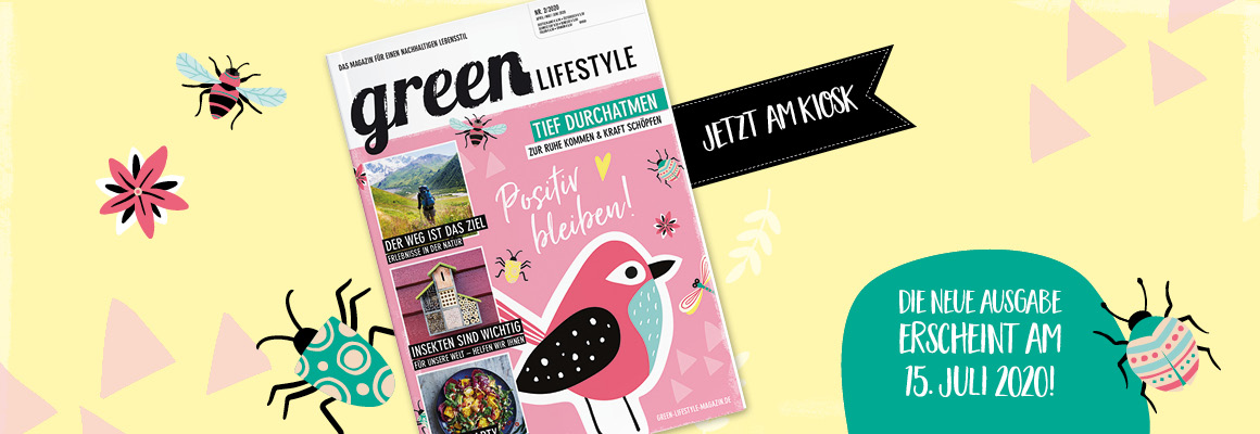 Banner mit Titel der aktuellen Ausgabe green Lifestyle