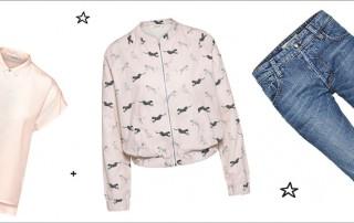Bluse, Bluoson und Jeans von Wunderwerk sind stylisch und nachhaltig produziert und kann man nun mit green Lifestyle gewinnen.