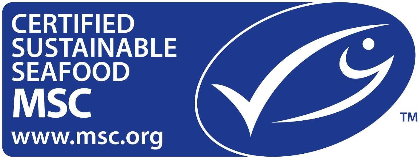 Das MSC Logo steht für nachhaltigen Fischfang.