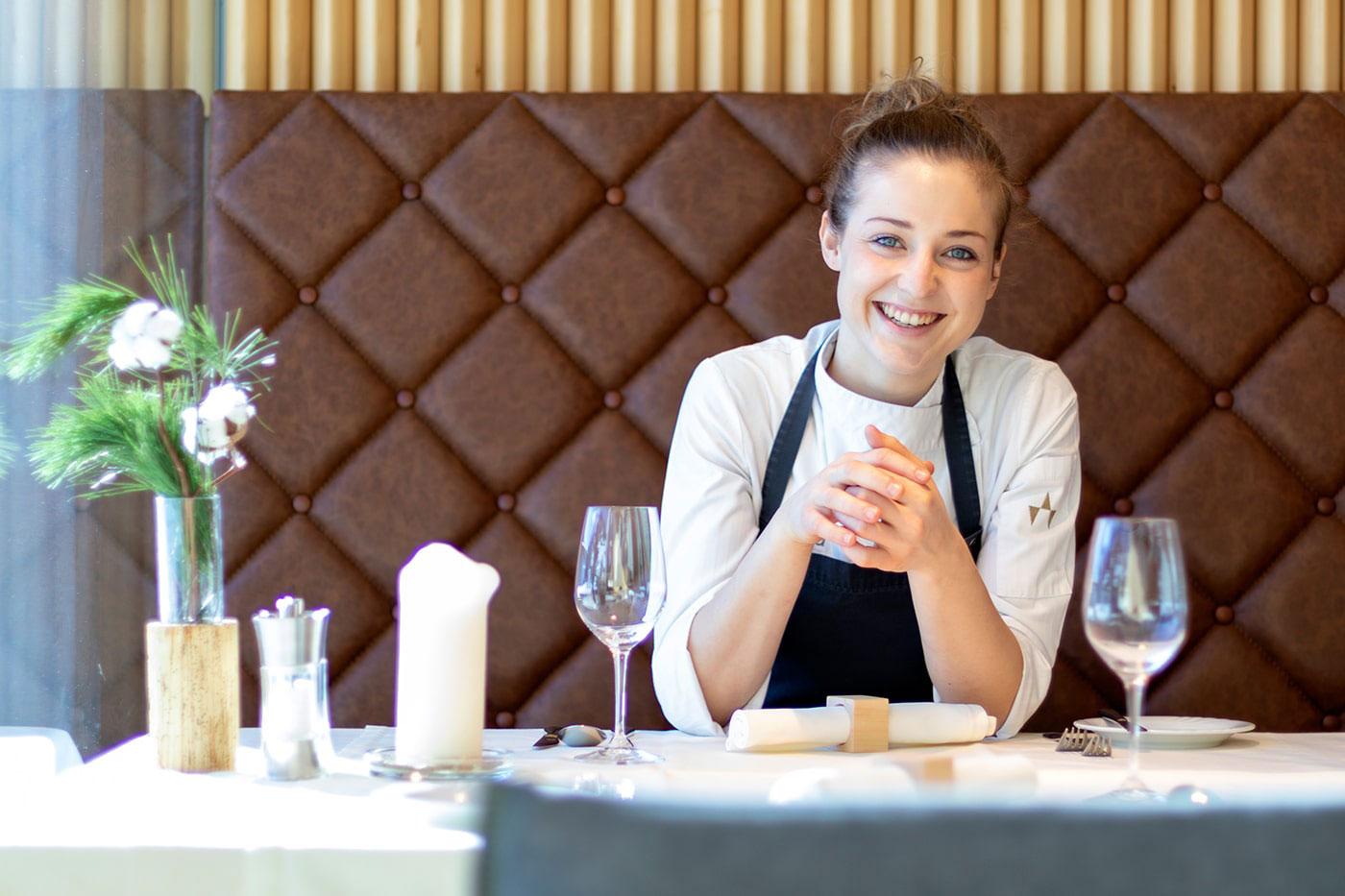 Köchin Verena Ganzer im Restaurant Inside