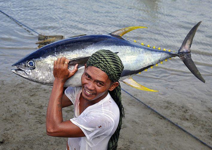 Fischer mit Thunfisch. Foto © Gregg Yan / WWF