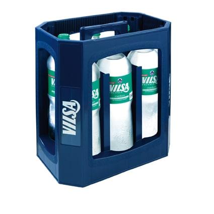 Kasten mit Mineralwasser von Vilser