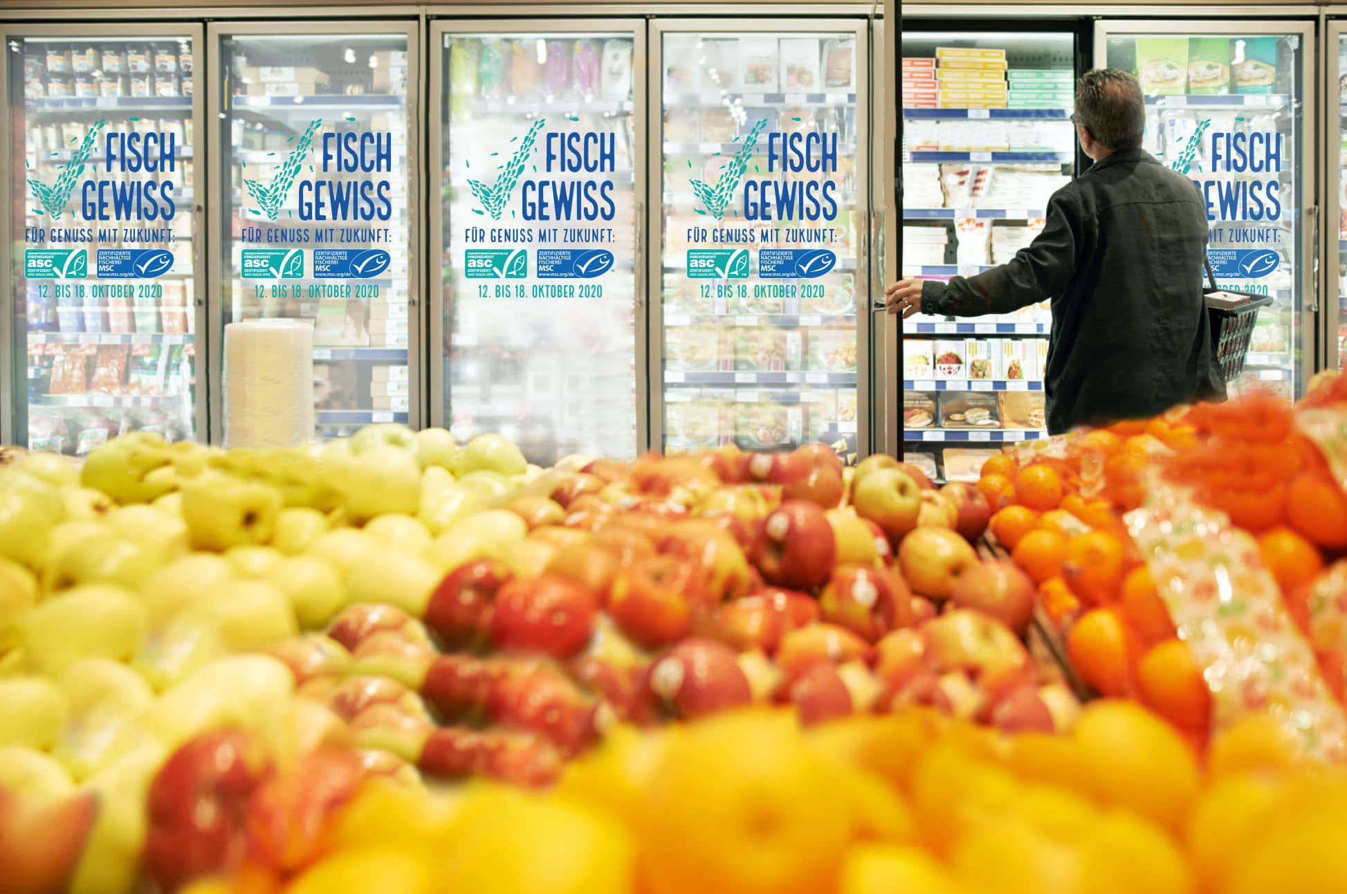 Aktionswoche FischGewiss im Supermarkt