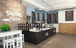 Das Interieur von Swing Kitchen