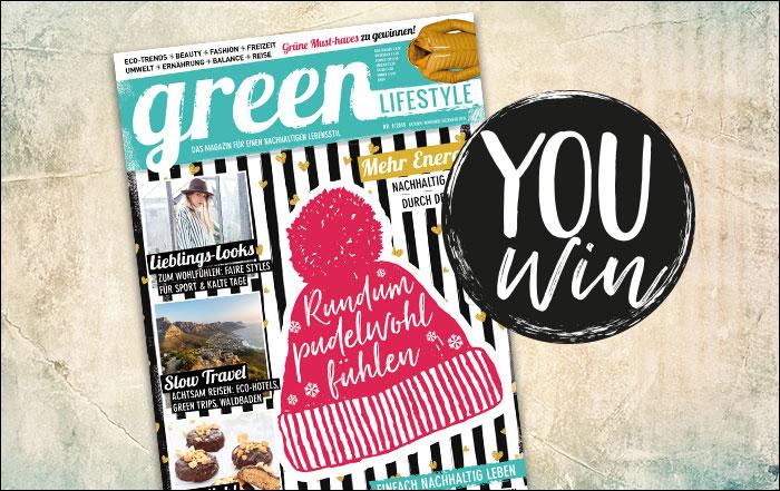 gewinnspiele aus dem magazin green lifestyle magazin. Black Bedroom Furniture Sets. Home Design Ideas