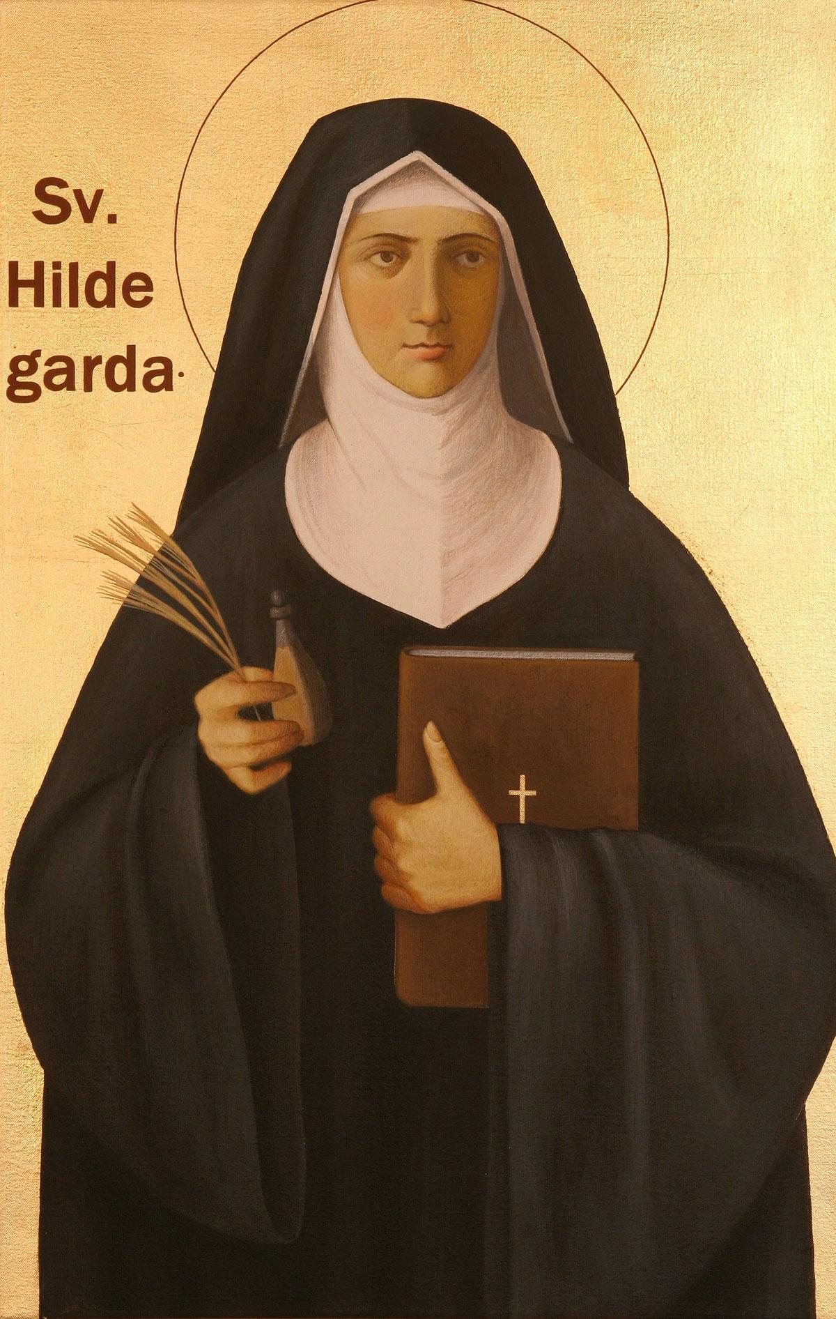 Ikonendarstellung Hildegard von Bingen