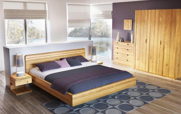 Ein mit Eiche eingerichtetes nachhaltige Schlafzimmer von La Module