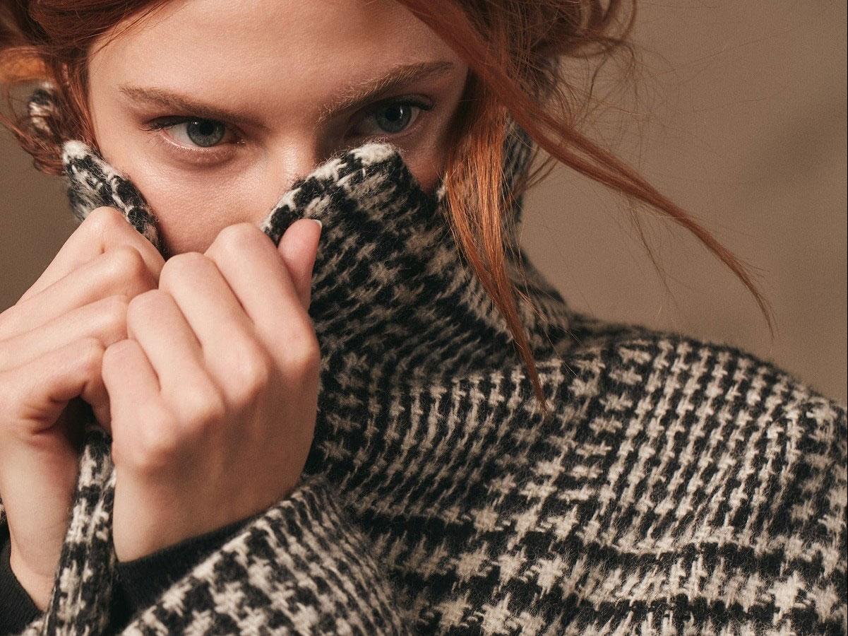 Der karierte mantel ist nachhaltige Mode von Lanius