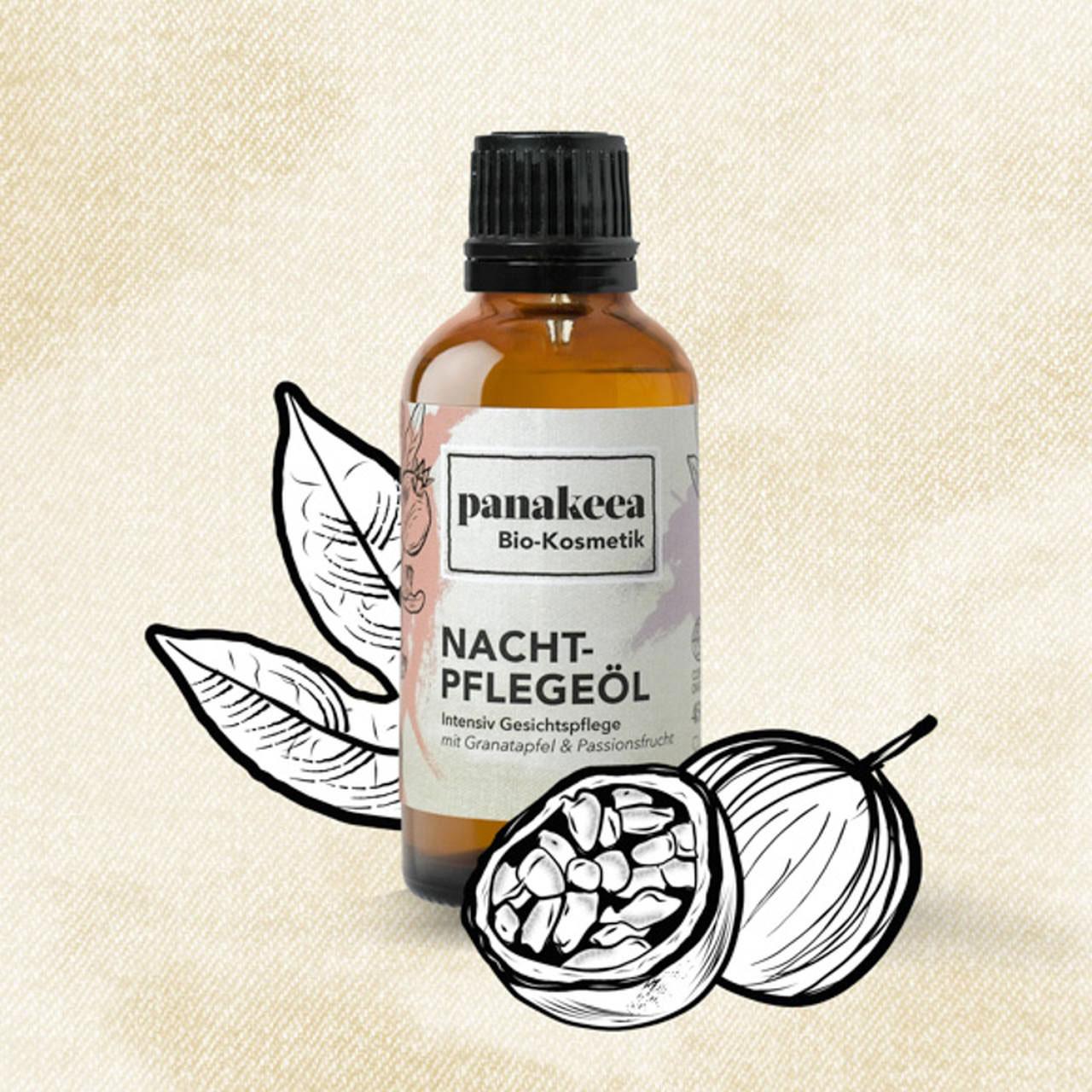 nachtpflegeöl aus natürlichen Zutaten von panakeea