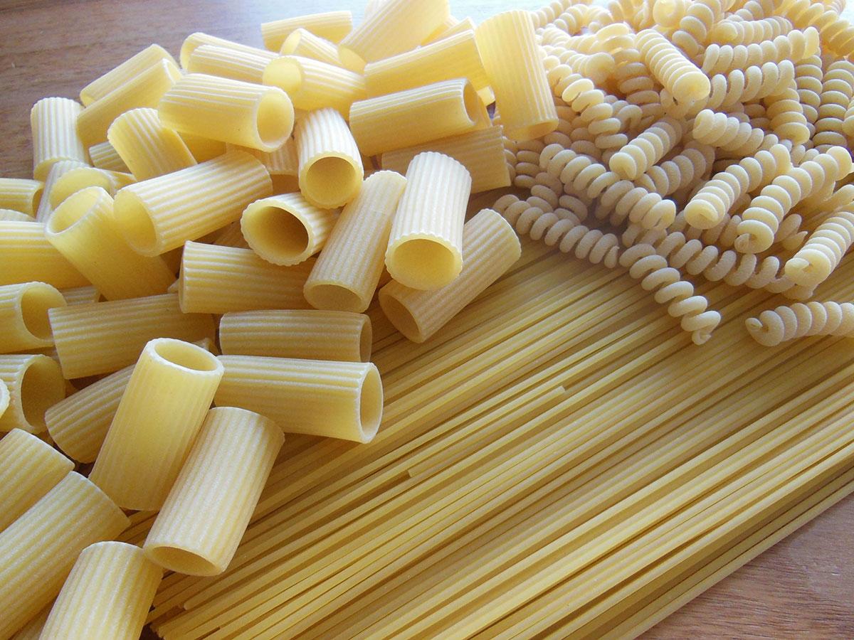 Pasta ist ein jahrelang haltbares Lebensmittel