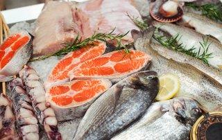 Roher Fisch in der Kühltheke