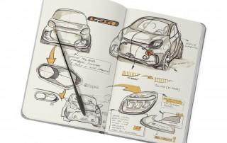Skizzenbuch mit Scribbles zum Smart EQ