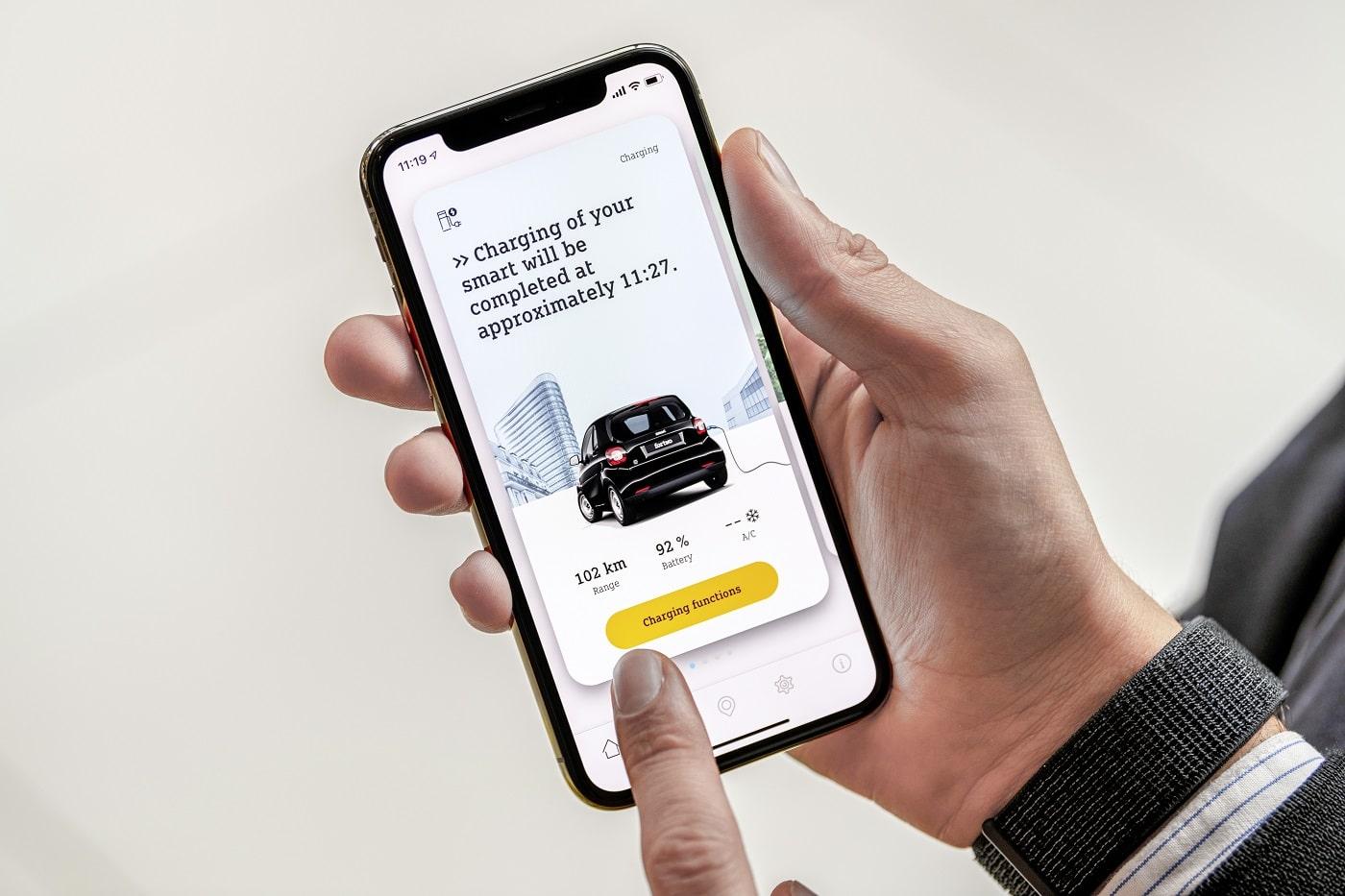 Smartphone mit praktischer Smart EQ App