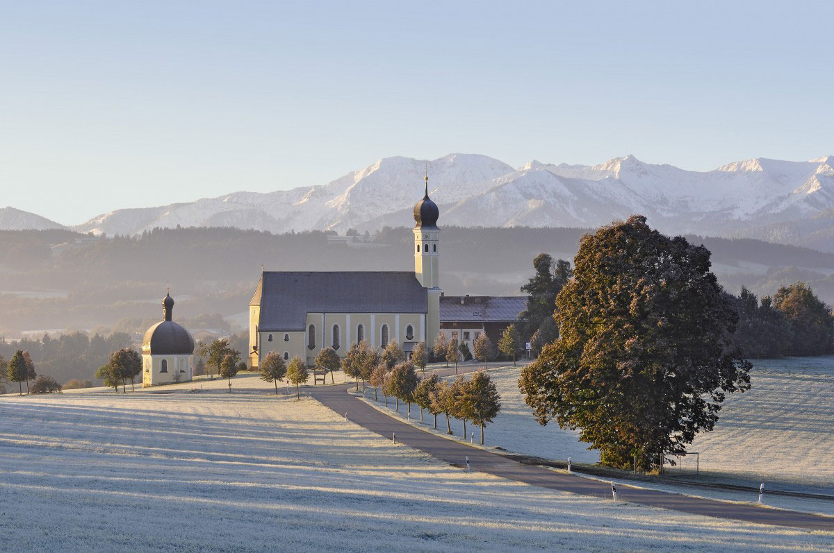 Winterliche Landschaft in Bayern